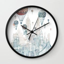 Voyages Over New York ~Refresh Wall Clock