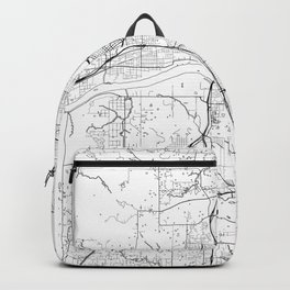 Tulsa Map White Backpack