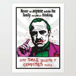 The JokeFather Art Print