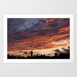 Sunset on September 17, 2016. XIV Art Print