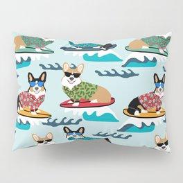 Corgi SUP Paddleboarding surfing watersports athlete summer fun dog breed Pillow Sham