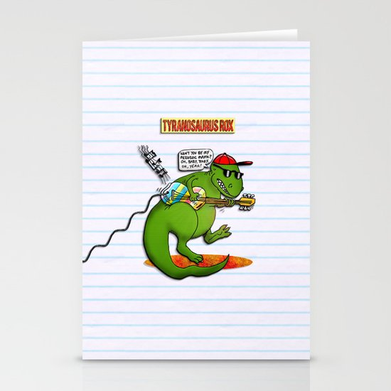 Jurassic Rock Stationery Cards