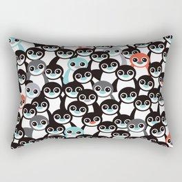 Quirky Penguin winter wonderland arctic animals Rectangular Pillow