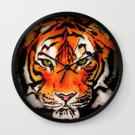 Tiger in the Shadows Wall Clock