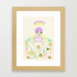Pizza Slut Framed Art Print