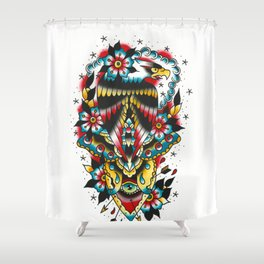 Eagle and eyes Shower Curtain
