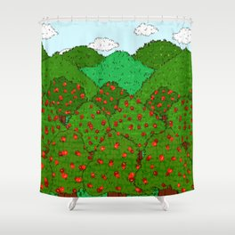 Apple Orchards Shower Curtain