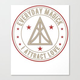 I Attract Love activated magickal sigil valentines day shirt gift Canvas Print