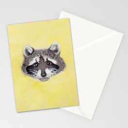 Raccoon Cycle Stationery Cards
