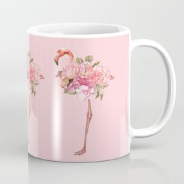 Flamingo with Flowers Crown Coffee Mug