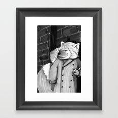 Panda Noir Framed Art Print