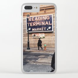 Philadelphia Reading Terminal Market Clear iPhone Case