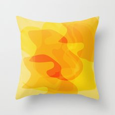 Orange Abstract Shapes Throw Pillow