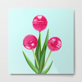 LOLLIPOP TULIPS Metal Print