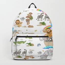 Noahs Ark Animals Backpack