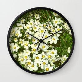 JC FloralArt 03 Wall Clock