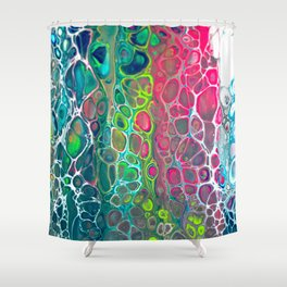 Cells - Opal Shower Curtain