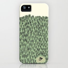 Forest house pattern iPhone Case