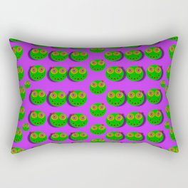 The happy eyes of freedom in polka dot cartoon pop art Rectangular Pillow