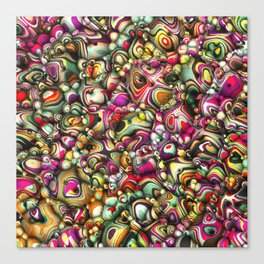 Colorful Abstract 3D Shapes Canvas Print