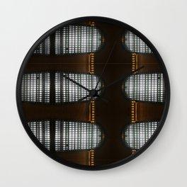 Grand Central Window (pattern) Wall Clock