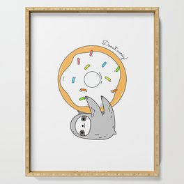 Donut worry Sloth Serving Tray