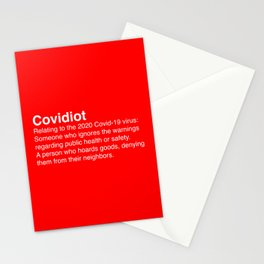 Covidiot - Stupid people Stationery Cards
