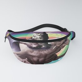 Space Cat Riding Dragon - Tacos And Rainbow Fanny Pack