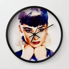Audrey Hepburn, Hollywood Legend Wall Clock