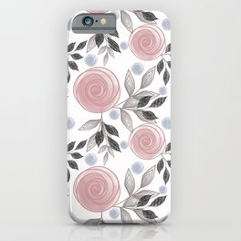 Delicate floral pattern. iPhone Case