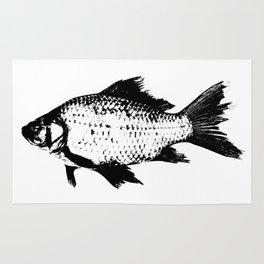 Black Fish Rug