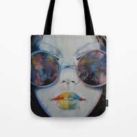 asia Tote Bags featuring Asia by Michael Creese