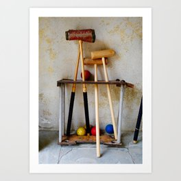 Anyone For Croquet? Art Print