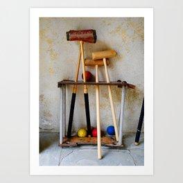 Anyone For Croquet? Art Print