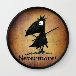 Nevermore! The Raven - Edgar Allen Poe Wall Clock
