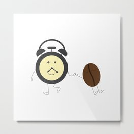 Wake up, coffee! Metal Print