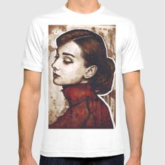 Audrey Hepburn Mens Fitted Tee White MEDIUM