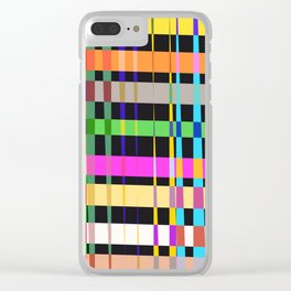 inclined coloured stripes Clear iPhone Case