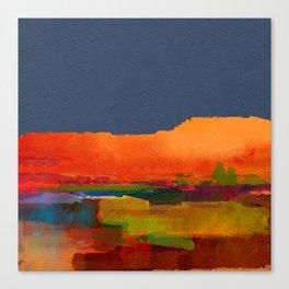 Landscape with hills Canvas Print
