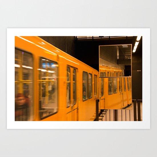 U-Bahn Mirror Art Print