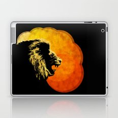 NIGHT PREDATOR : lion silhouette illustration print Laptop & iPad Skin