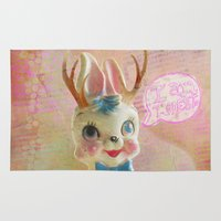 jackalope Area & Throw Rugs featuring MODESTo Jackalope by MODESTo! Prints