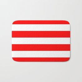 Australian Flag Red and White Wide Horizontal Cabana Tent Stripe Bath Mat