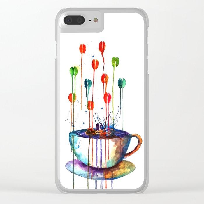Coffee Splash Clear iPhone Case