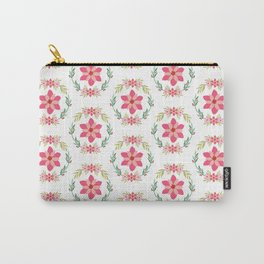 Vintage Floral Pattern #flowers #natural pink flowers pattern  Carry-All Pouch