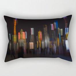 Shanghai Skyline II Rectangular Pillow