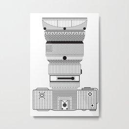 D.S.L.R. (B & W) Metal Print