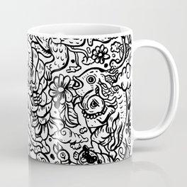 Somewhere Together black and white Coffee Mug