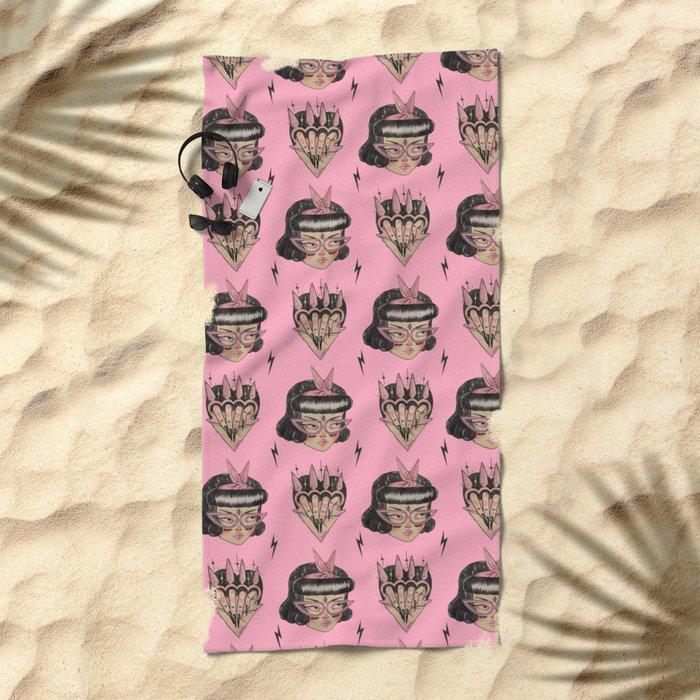 Gang Girl (black) Beach Towel