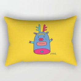 Rudolph pig Rectangular Pillow